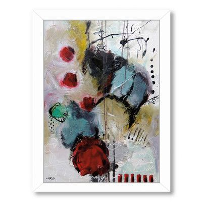 Americanflat Eruptus 3381 by Annie Rodrigue Framed Painting Print