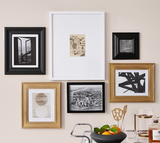 Gallery In A Box Frames Gold Black White Gold Gallery Wall