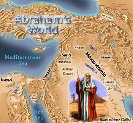 Map of the World of Abraham