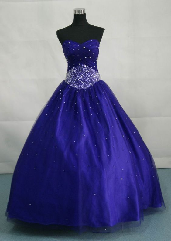 ball gown dresses for girls | Strapless Yellow or Coral make a great tropical prom dress.