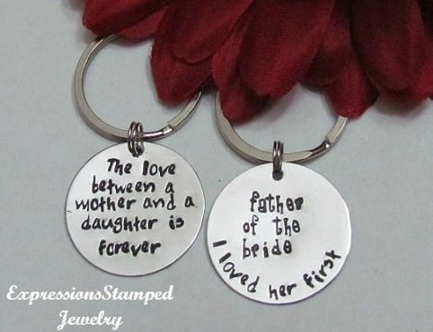 Wedding Set Key Chains-Wedding Gifts, Parents of Bride and Groom, Gift ...