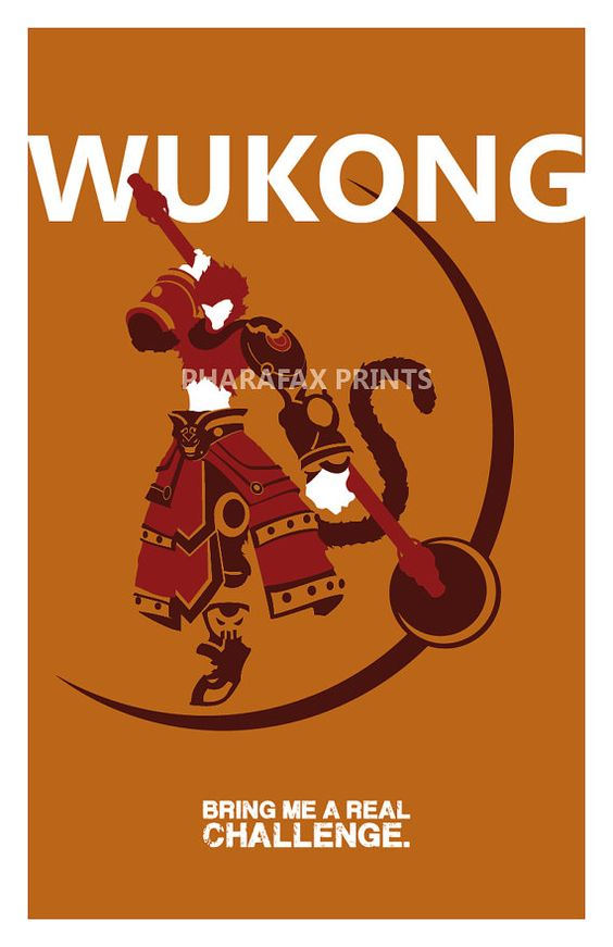 Wukong League of Legends Print by pharafax on Etsy, $16.00