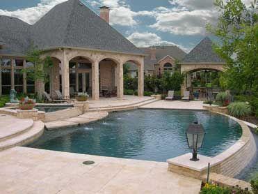 Delightful Negative Edge Pool, Creamy Tan Rockwork.. Beautiful Backyard! Leisure  Living Pools,