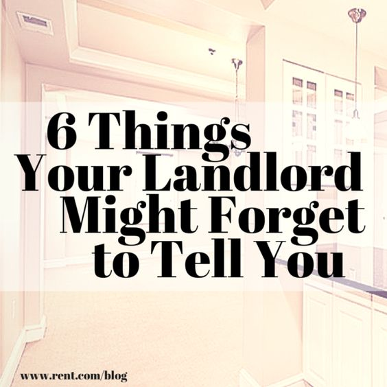 Moving into a new apartment? Here are six important things your landlord might forget to tell you that can cost you. Read more now on The Shared Wall blog!