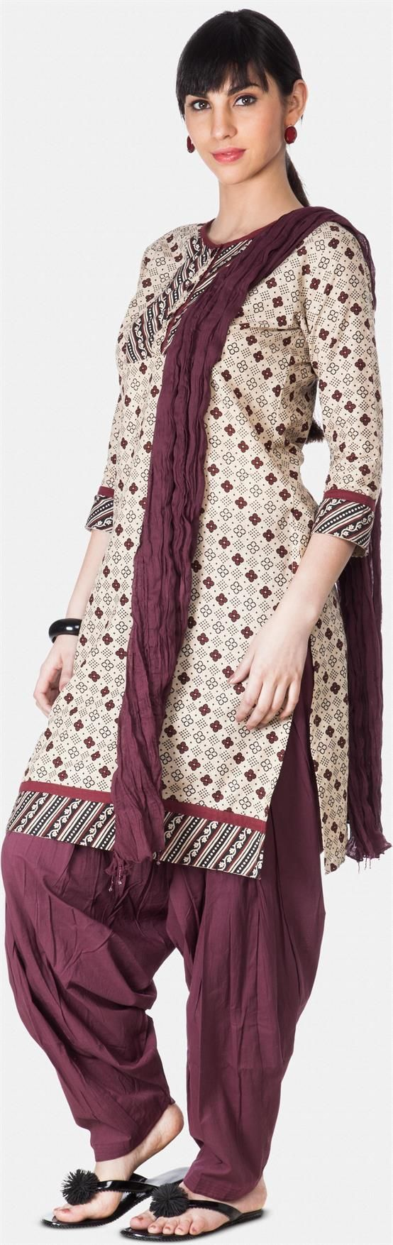 Wine Patiala And Dupatta Set