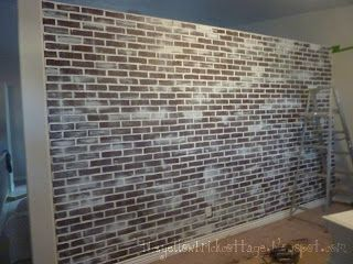 The Yellow Brick Cottage: {Faux} Brick Wall