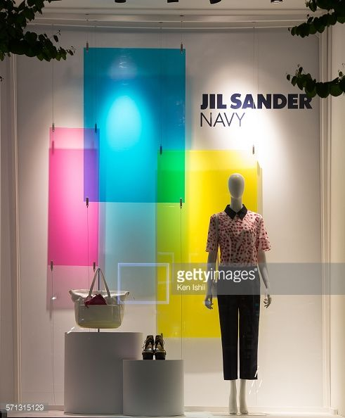 """JIL SANDER, Tokyo, Japan, """"Your Winter Forecast is Bright"""", pinned by Ton van der Veer"""