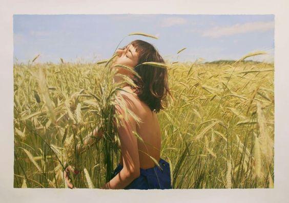 Untitled; Olya - Oil on Paper, 2014|© Yigal Ozeri