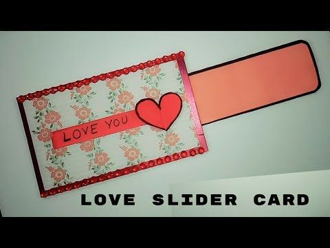 Love Slider Card For Scrapbook Diy Anniversary Cards Scrapbook Card Ideas Youtube Slider Cards Anniversary Cards Handmade Valentines Scrapbook