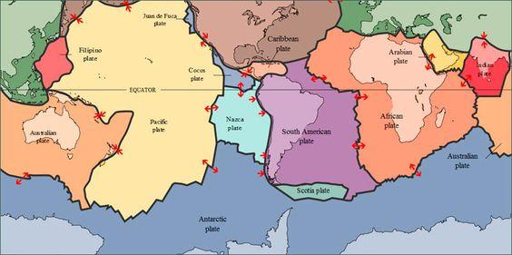 World Tectonic plates Map