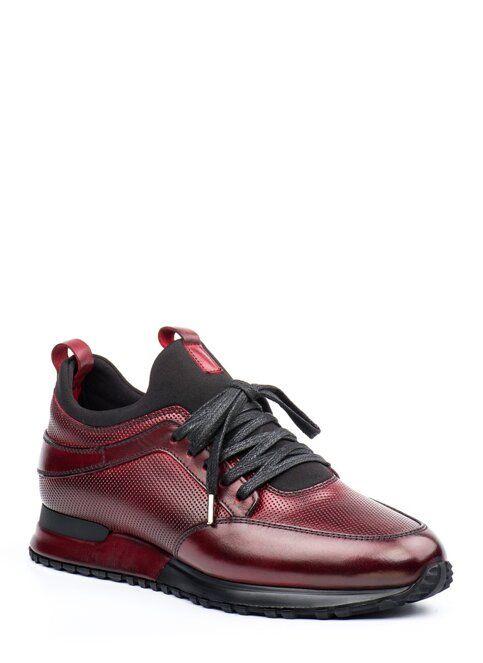 Doka Deri Sneakers Bordo Oxford Ayakkabi Spor Ayakabilar Dolgu Topuk