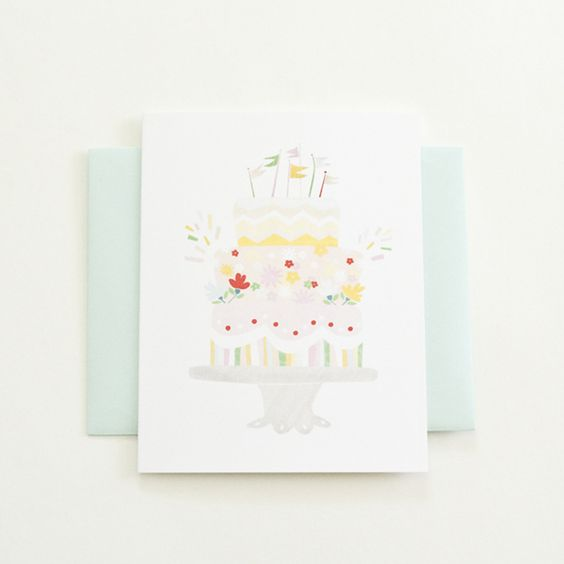 Celebration Cake - Single Card by Emily Isabella for Back In The Day Bakery