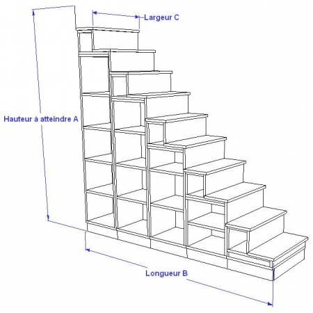 Biblioth que escalier pour mezzanine construction - Comment fabriquer une bibliotheque ...