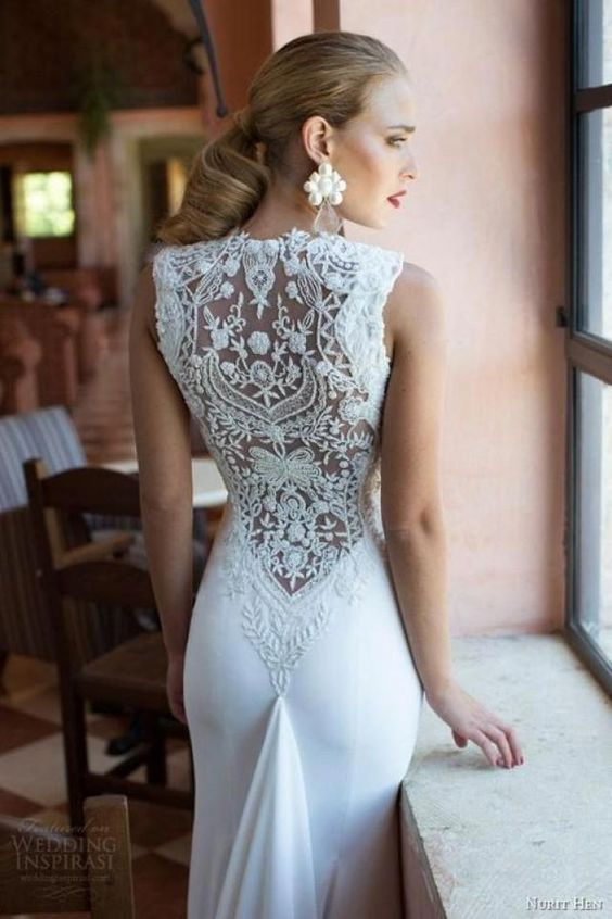wedding dresses with embroidered back