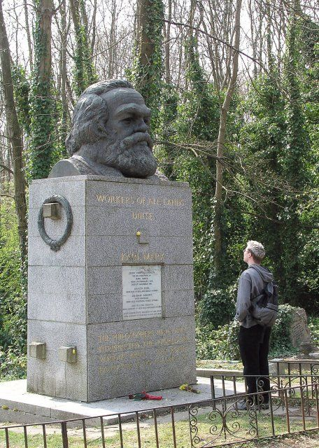 Wait, not the grave of Father Christmas, but of Karl Marx, Highgate Cemetery