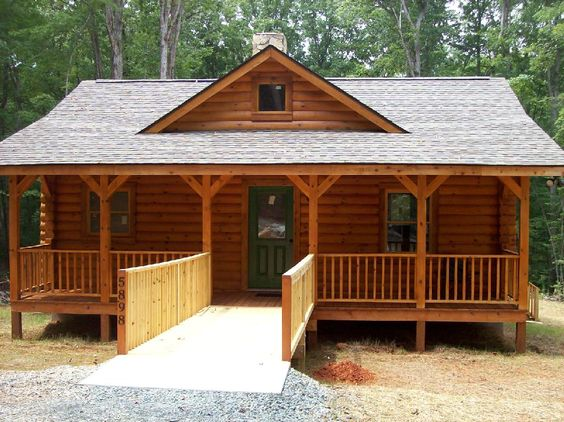 Log home plans handicap accessible home design and style for Handicap accessible homes