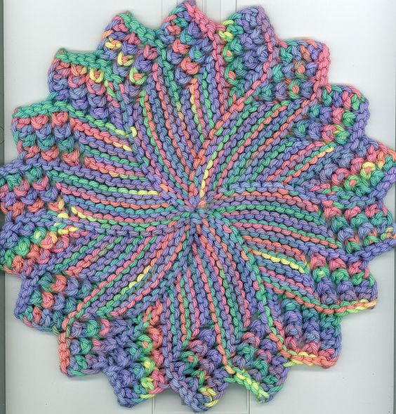 M Dishcloth Knitting Pattern : Dishcloth, Patterns and Pattern library on Pinterest
