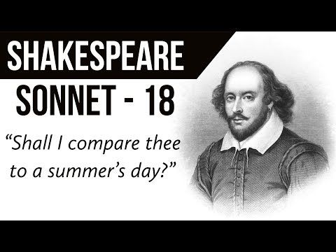 English Poem Sonnet 18 By William Shakespeare Shall I Compare