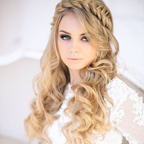 Prom Hairstyles Braided Headband Images & Pictures - Becuo