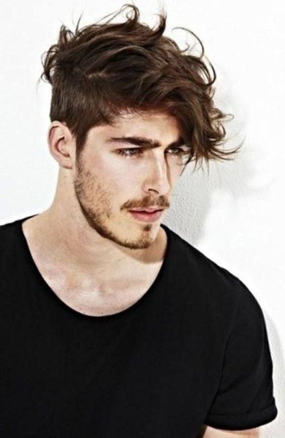 Coupe de cheveux homme court coté et long dessus , http//lookvisage.