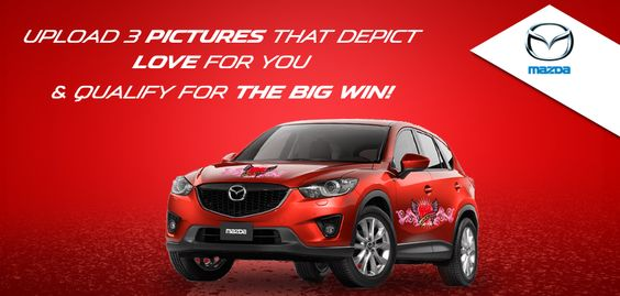 Upload 3 pictures that depict love to you and qualify for the BIG WIN!  Click here to participate: http://www.facebook.com/MazdaOman/app_403248083091961?ref=ts