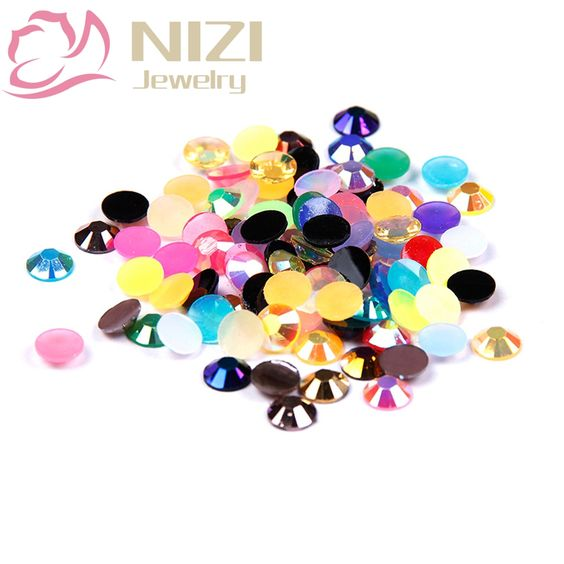$5.60 (Buy here: http://appdeal.ru/6ak5 ) Glitter Resin Rhinestone 2-6mm Mixed Colors 14 Facets Nail Tools For Nail Art DIY Decoration Flatback Non Hotfix 2016 New Design for just $5.60
