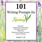 Massive collection of writing prompts to celebrate the spring!  101 Writing Prompts for Spring includes writing prompts for Research papers, Argume...