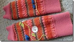leg warmers from old sweaters: