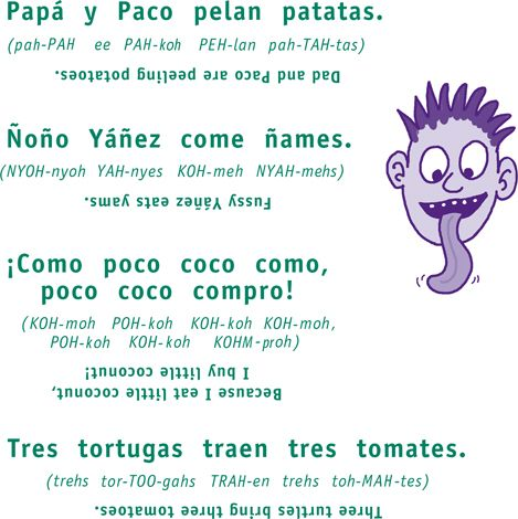 how to write a spanish tongue twister