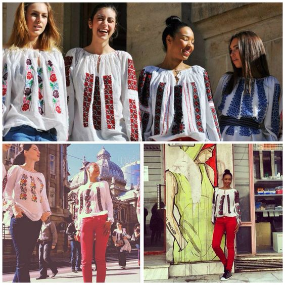 This Romanian traditional blouses are so cute and in trend!love them