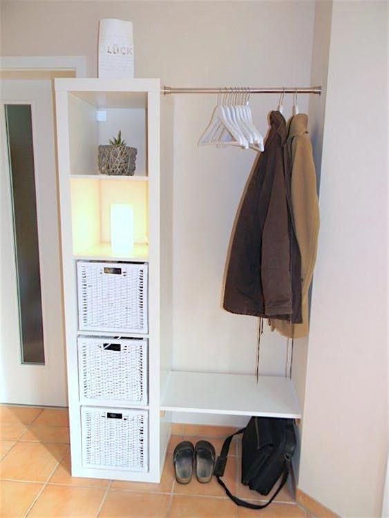 When Space Is Tight And Money S Even Tighter Ikea Is Our Happy Place Furnitureapartment In 2020 Kallax Ikea Ikea Storage Ikea Diy