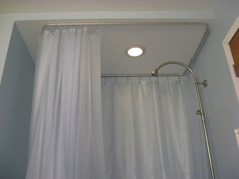 Ceiling Mount Shower Curtain Rods Youtube Desire Rod And 0