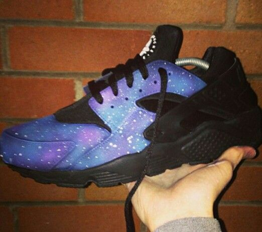 Galaxy custom huarache | Stuff to Buy | Pinterest | Galaxies