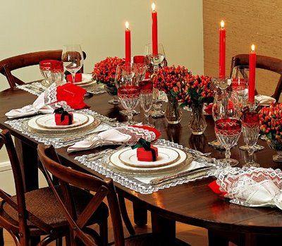 Decoração de mesa para o Natal: