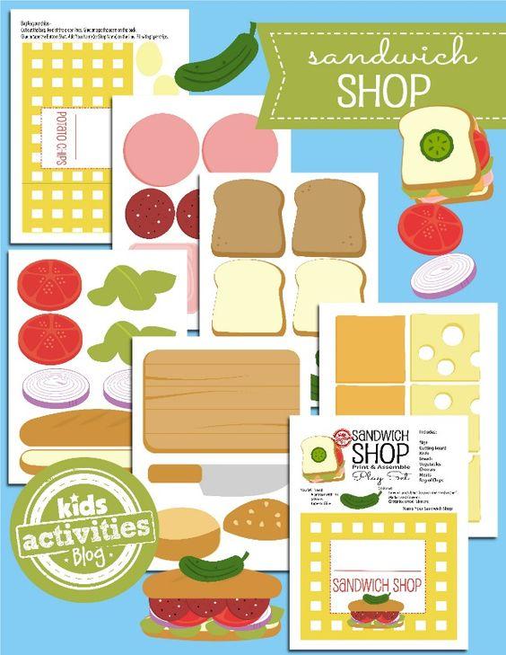 play food printables paper toys printable free kids printables ...