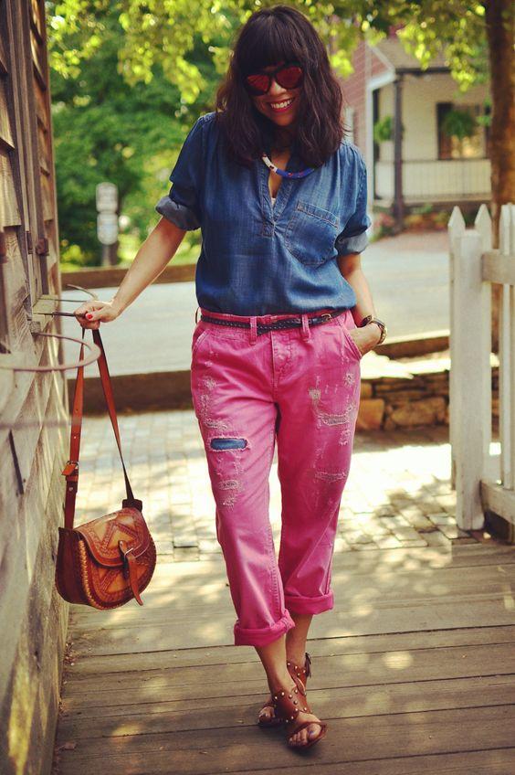 Colored boyfriend jeans | variações pro jeans | Pinterest ...