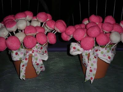 cake pop flower pots