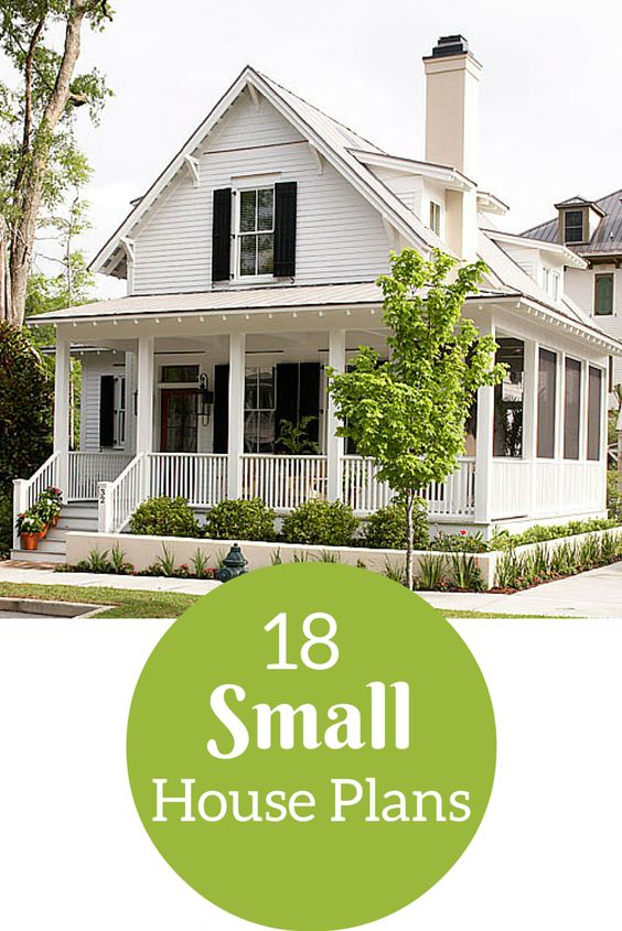 Small house plans small houses and house plans on pinterest for Small house plans that live large