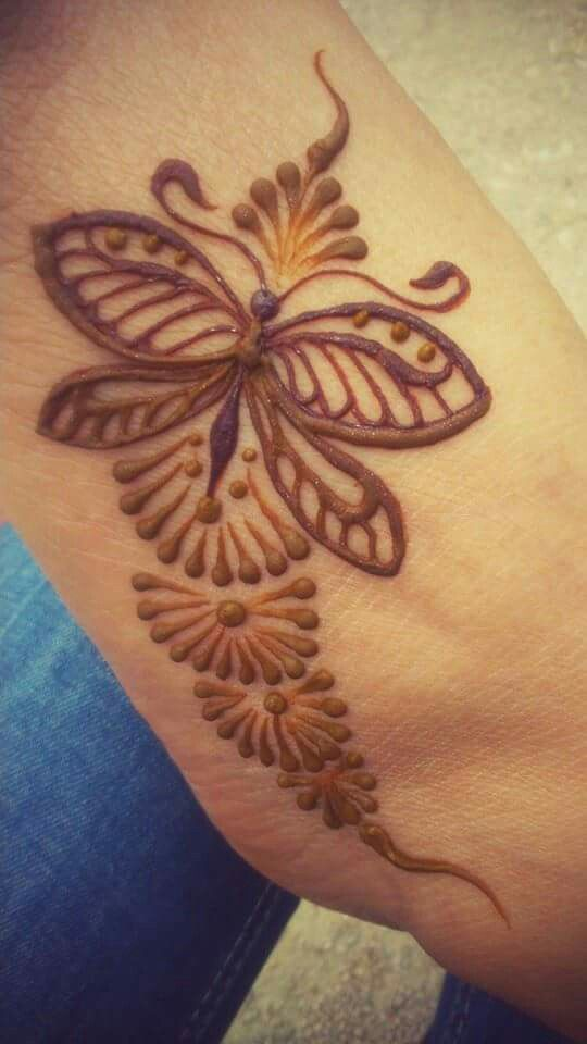 henna butterflies and simple on pinterest. Black Bedroom Furniture Sets. Home Design Ideas