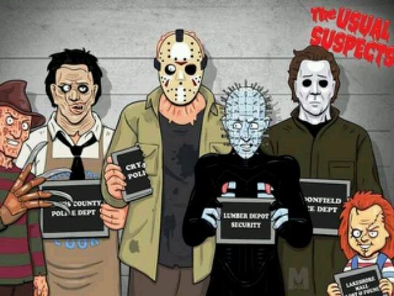 Image result for chucky, michael myers, freddy and jason