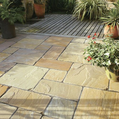 engineered stone paving tile for outdoor floors ANTIQUE NATURAL SANDSTONE BRADSTONE