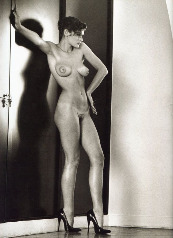 Sylvia in my studio, Paris, 1981, by Helmut Newton