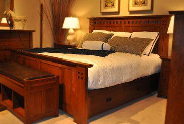 Stickley Mission bedroom - craftsman - bedroom - kansas city - Traditions Home