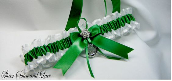 Hey, I found this really awesome Etsy listing at https://www.etsy.com/listing/129072199/emerald-irish-wedding-garters-toss