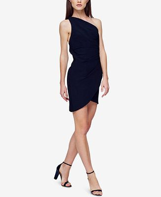 Fame and Partners One-Shoulder Satin Dress - Dresses - Women - Macy's