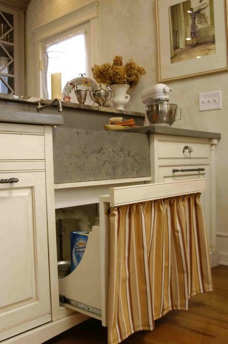 Pull out under sink for cleaning supplies   no kneeling and ...