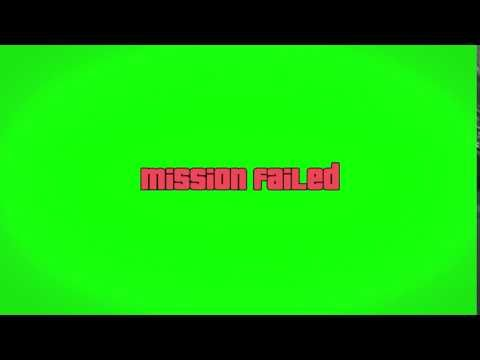 Gta V Mission Failed 1080p Green Screen Requests Youtube Greenscreen Youtube Editing Mission