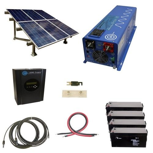 1440 Watt Off Grid Solar Kit With Solar Rack And 4000 Watt Power Inverter Charger 24 Volt Solar Panels Solar Energy Panels Solar Kit