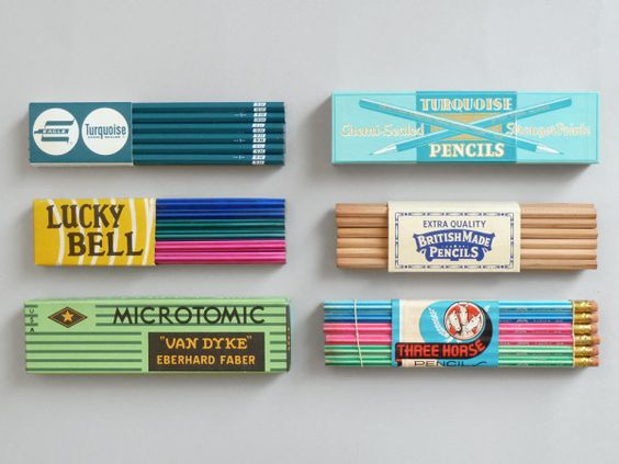 Happiness is... some old packs of pencils.: