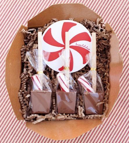 Peppermint Hot Chocolate Sticks